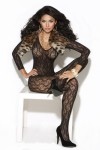 Vivace Long Sleeve Bodystocking Black O/s