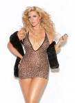 Vivace Leopard Mini Dress Black Queen Size